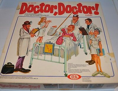DOCTOR DOCTOR Board Game Ideal 1978- rj