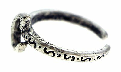 Antique Silver-Tone Toe Ring With The Letter 'C' Initial TR42A-C