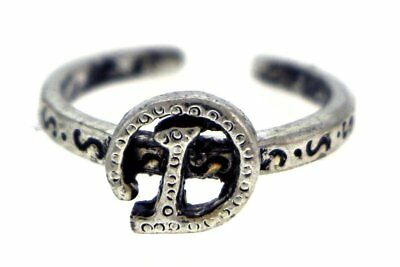 Antique Silver-Tone Toe Ring With The Letter 'D' Initial TR42A-D