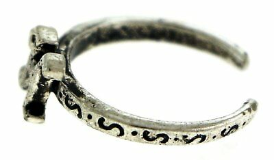 Antique Silver-Tone Toe Ring With The Letter 'H' Initial TR42A-H