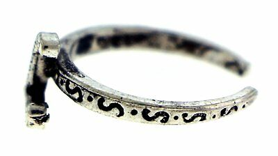 Antique Silver-Tone Toe Ring With The Letter 'L' Initial TR42A-L