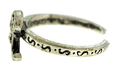 Antique Silver-Tone Toe Ring With The Letter 'R' Initial TR42A-R