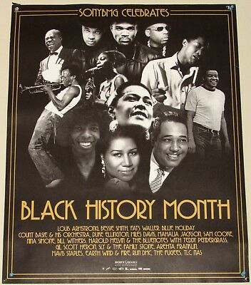 BLACK HISTORY MONTH POSTER feat NINA SIMONE+ MILES DAVIS+ BILL WITHERS+ ARETHA