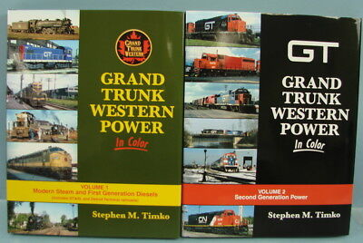 Lot of 2 Morning Sun Book Grand Trunk Western Power In Color Vol. 1 & 2 Timko