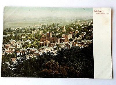 Worcestershire Postcard -  Malvern from North Hill - Worcester