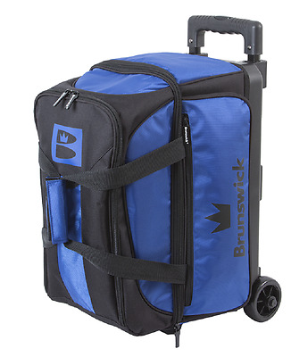 Brunswick Blitz 2 Ball Roller Bowling Bag Color Blue