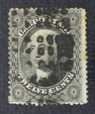 CKStamps: US Stamps Collection Scott#36 12c Washington Used Stain CV$350