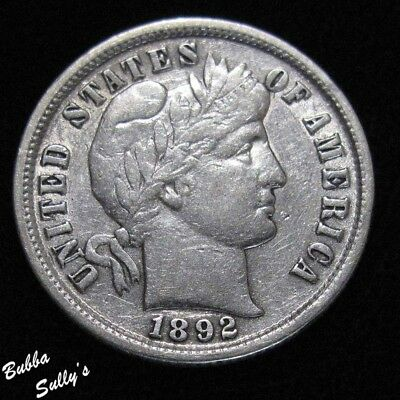 1892 Barber Dime <> EXTREMELY FINE