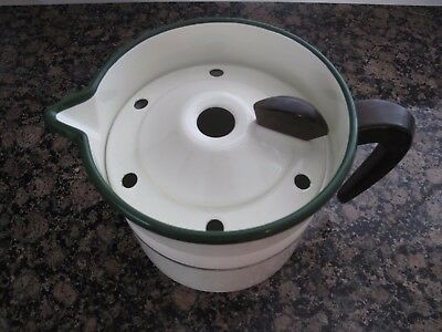 Vintage  Enamel Sauce Pan /  Stock Pot