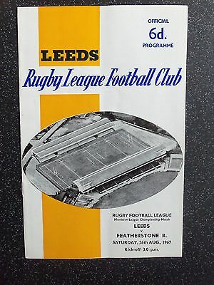 Leeds V Featherstone Rovers 26/8/1967