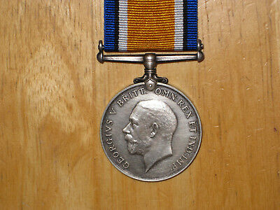WW1 silver British War Medal named to Fysh from London Ontario