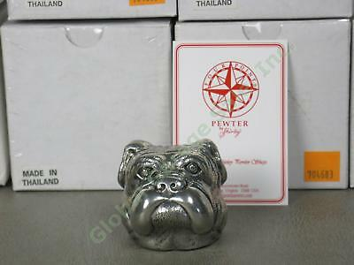 8 NEW Shirley Four Points Pewter English Bulldog Paperweights Univ Of Georgia