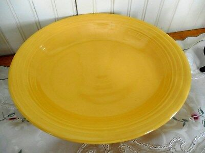 "Vintage Original Yellow Fiesta Footed Fruit Bowl 12"" Compote Laughlin Fiestaware"