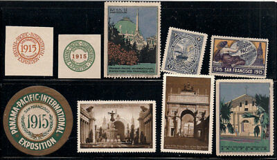 1915 PPIE California Los Angeles Poster Stamps Panama Pacific Expo collection