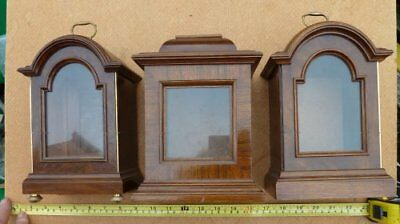 3 Small Walnut Clock Cases