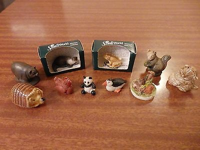 10 Wade Whimsies, Small World (2 Boxed), Peter Fagan & Other Miniature Animals