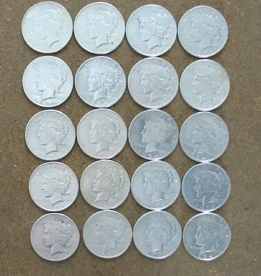 Roll (20 Coins)  1934  Peace Silver Dollars.. Higher Grade