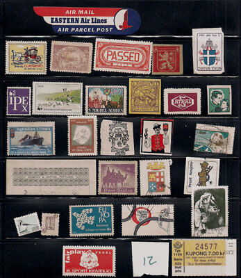 Cinderella Poster stamps lot Oddball stuff Brandy Germany Pope John Paul ship