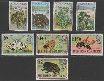 British Indian Ocean Territory 1975-76 QEII Wildlife Sets + Maps MS Mint