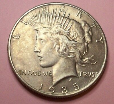1935  Key Xclnt Low Mint Last Yr Of Series Peace Liberty Silver Dollar Lot Coin