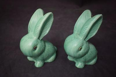 "Two SylvaC Snub Nosed Rabbits No 990 Bright Green Approx. 5"" tall"
