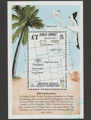 British Indian Ocean Territory 1990 25th Anniversary BIOT £1 MS Used* SG MS110