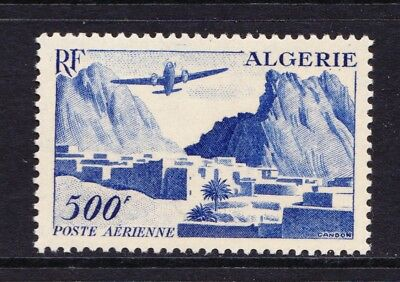 Algeria 1953 Airmail - Airplane over Landscape - MNH 500F - Cat £31 - (505)