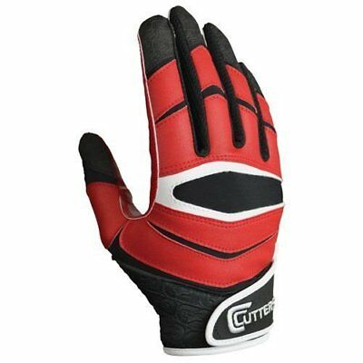 Adult Red C-Tack X40 skill position Football Gloves S L or XL NWT
