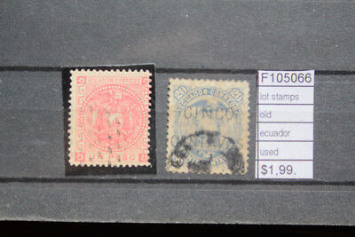 Lot Stamps Old Ecuador Used (F105066)