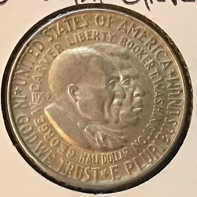 1952 50C Washington-Carver Silver Commemorative (31685)