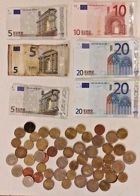 EUROS 99.75 Total Coins and Currency All Circulated
