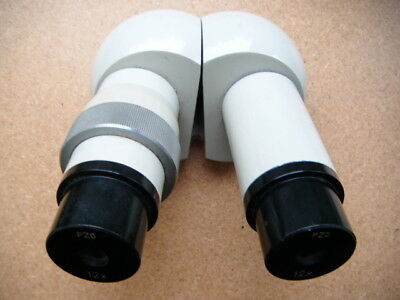 PZO Poland binocular microscope head with pair of 12x eyepices -