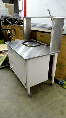 "50.5"" X 31"" Stainless Steel Top Laboratory Bench/table With 12"" X 50"" Shelf"