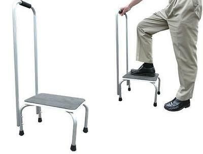 Step Stool Platform Extra Long Safety Support Rail Non Slip Feet Mobility Aid