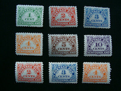 Newfoundland, 1939 Full Postage Due & 1946-49 Perf. Variations MH