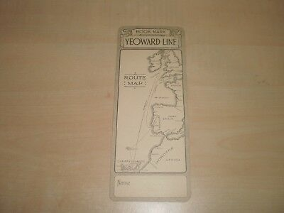 1935 Yeoward Line Bookmark Route Map Liverpool To Canary Islands
