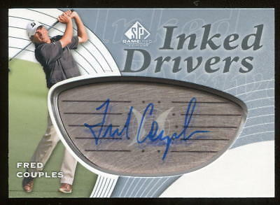 2012 SP GU Game Used Inked Drivers Silver Fred Couples Auto Autograph Boom Boom