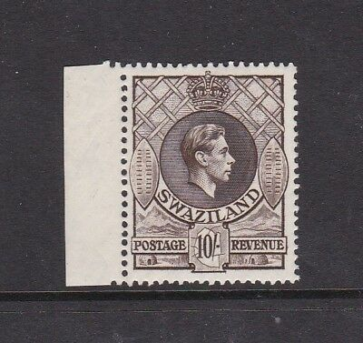 Swaziland 1938 Kgvi 10/- (Sg37) Lightly Hinged Mint