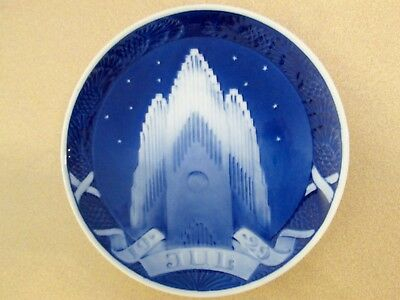 "Royal Copenhagen ""the Grundtvig Church"" 1929 Christmas Plate"