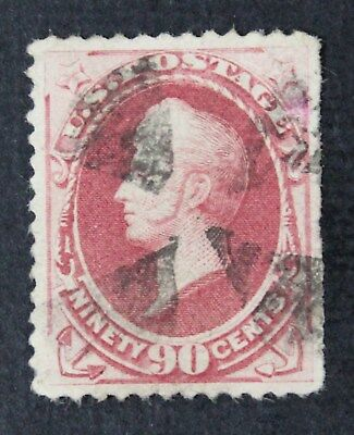 CKStamps: US Stamps Collection Scott#191 90c Perry Used Tiny Thin CV$360