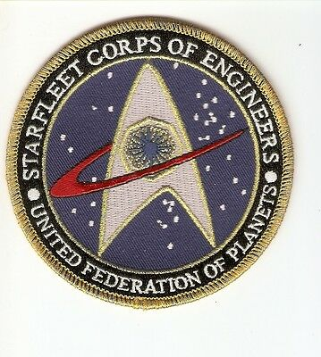 + STAR TREK Aufnäher/Patch  STARFLEET ENGINEERS UNITED FEDERATION OF PLANETS