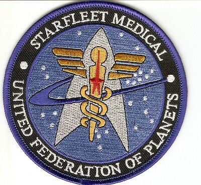 + STAR TREK Aufnäher Patch STARFLEET MEDICAL UFP latest Design