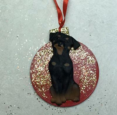 Rottweiler 3D Dog Christmas Ornament Gift Holiday Personalized
