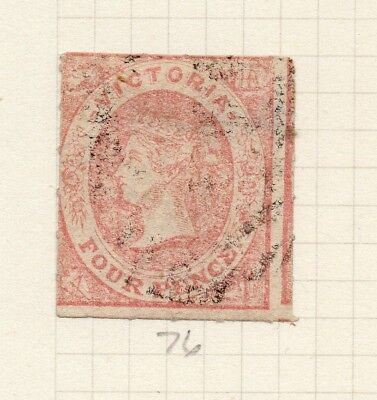 AUSTRALIA VICTORIA 1854-7 Early Issue Fine Used 4d. 195315