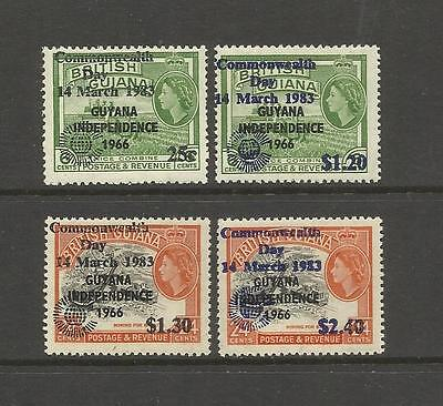 Guyana ~ 1983 Commonwealth Day Overprints (Mint Set Mh)