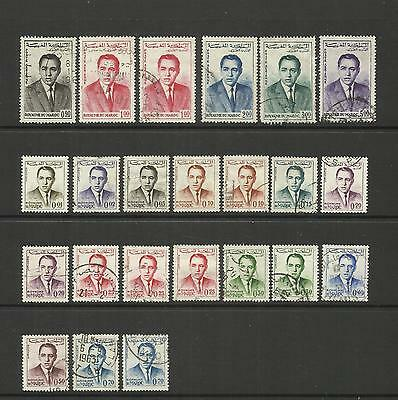 Morocco ~ 1962 King Hassan Ii Definitives & Air Mail (Used Part Set)