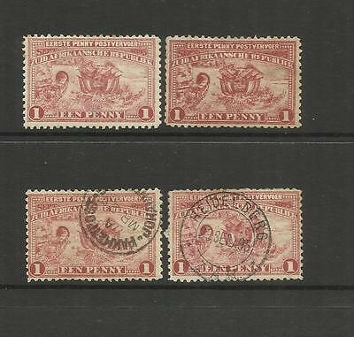 Transvaal South Africa ~ 1895 Introduction Of Penny Postage (Mint & Used)