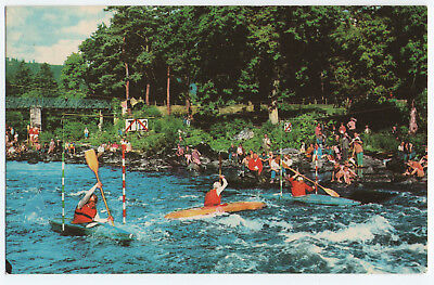 (P2385) Canoeing on River Tay at Grandtully. J.B. White Postcard