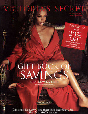 2001 Victoria's Secret Gift Book Catalog Tyra Banks cover