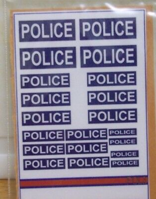 20 x Police. Stickers on one sheet (P3)